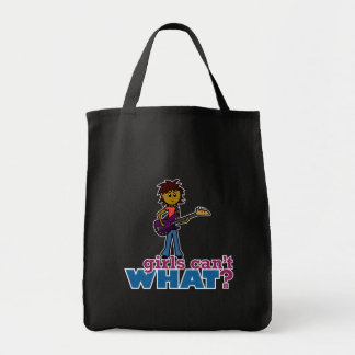 Bass Guitar Girl Canvas Bag