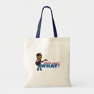 Bass Guitar Girl Canvas Bags