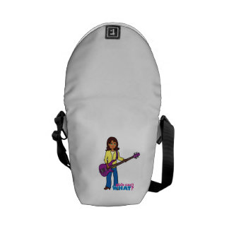 Bass Guitar Girl Messenger Bag