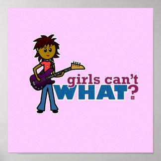 Bass Guitar Girl Print