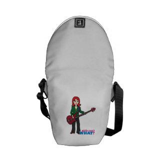 Bass Guitar Light/Red Courier Bags