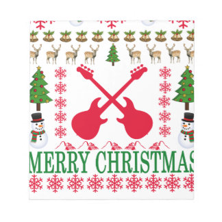 BASS GUITAR MERRY CHRISTMAS . NOTEPAD