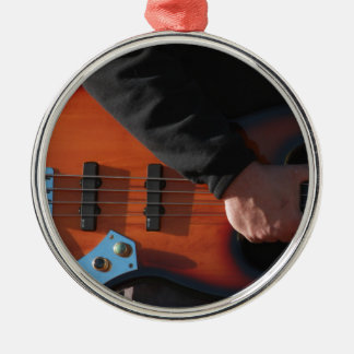 Bass Guitar Metal Ornament