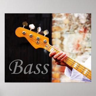 Bass Guitar Music instrument Poster