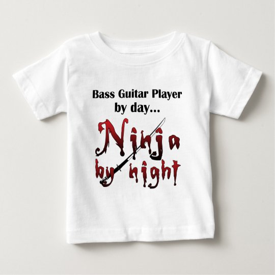 Bass Guitar Ninja Baby T-Shirt