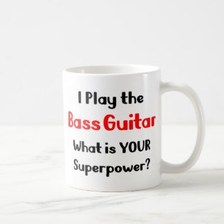 Bass guitar player coffee mug