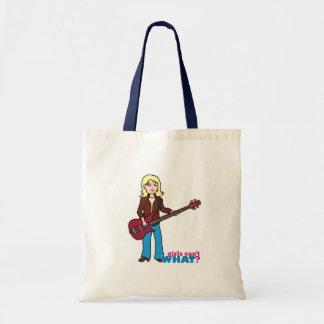 Bass Guitar Player - Light/Blonde Canvas Bag