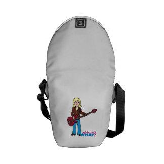 Bass Guitar Player - Light/Blonde Courier Bag