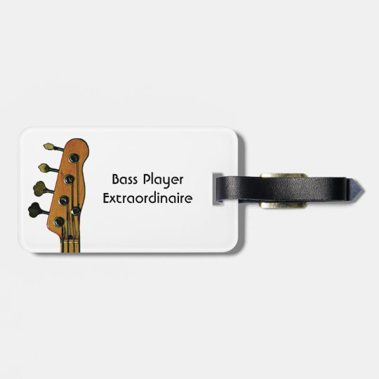 Bass Guitar Player Luggage Tag