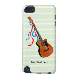 Bass Guitar Red White Blue Streamers iPod Touch 5G Cases
