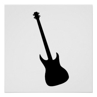 Bass Guitar Silhouette Posters