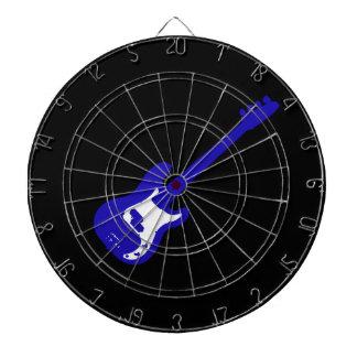bass guitar slanted blue graphic dart board