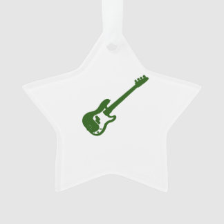 bass guitar slanted green graphic