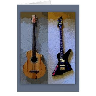 Bass Guitars Card