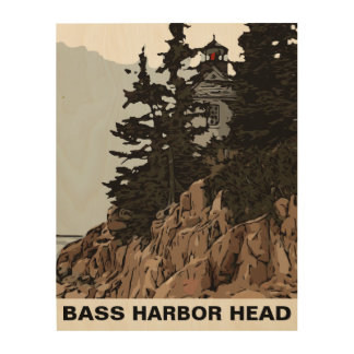 BASS HARBOR HEAD WOOD WALL DECOR