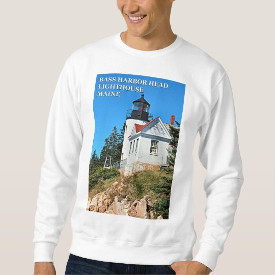 Bass Harbour Lighthouse, Mount Desert Island Maine Sweatshirt