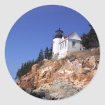 Bass Harbour Lighthouse Round Sticker