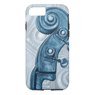 Bass Headstock Blue Scroll iPhone 7 Case