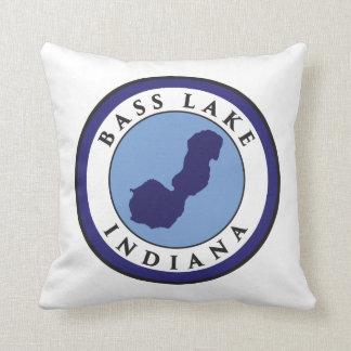 Bass Lake, Indiana Throw Pillow