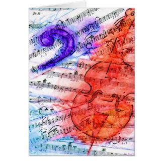 Bass Music Cut Sheet - Card