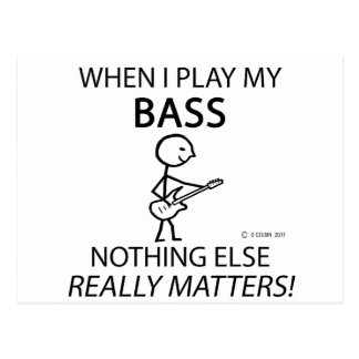 Bass Nothing Else Matters Postcard