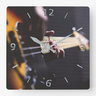 Bass Player Bass Guitar Music Wall Clocks