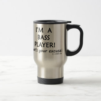 Bass Player Excuse Travel Mug