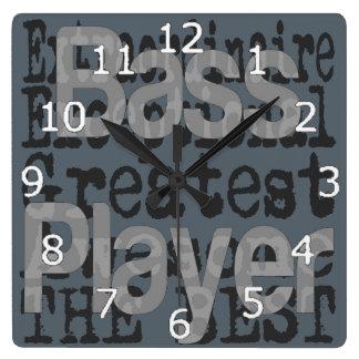 Bass Player Extraordinaire Clock