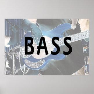 bass player invert text four string bass hands posters