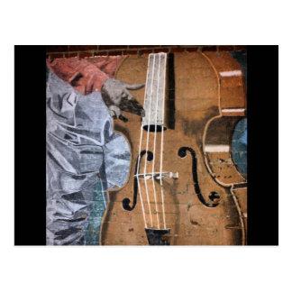 Bass Player Mural Downtown Fresno Postcard