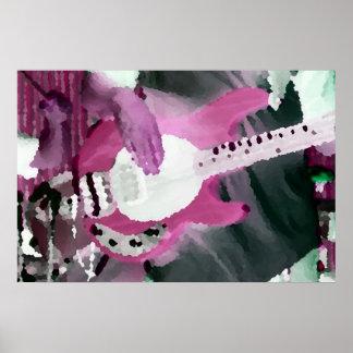 bass player painterly invert mag four string bass poster