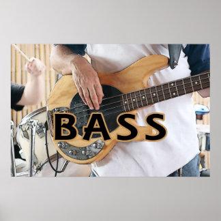 bass player text four string bass hands poster