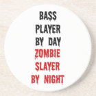 Bass Player Zombie Slayer Coaster