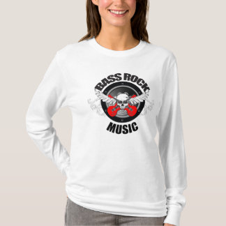 Bass Rock Music - Ladies Fitted Hoodie (white)