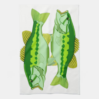 Bass Twins Kitchen Towel