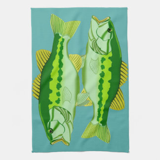 Bass Twins Kitchen Towel