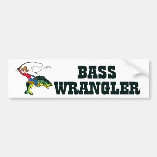 Bass Wrangler Bumper Stickers