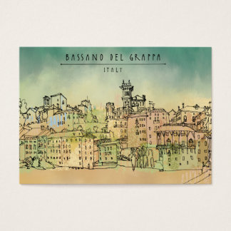 Bassano Del Grappa Italy Watercolor Business Card