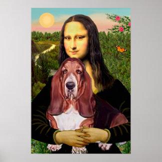 Basset 1 - Mona Lisa Poster
