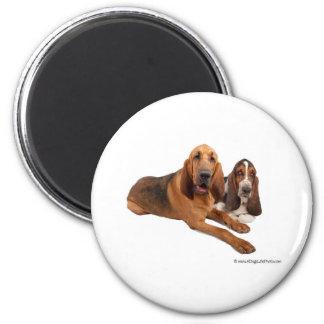 Basset and Bloodhound Buddies Magnet