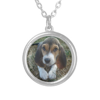 Basset Artésien Normand Puppy Dog Silver Plated Necklace