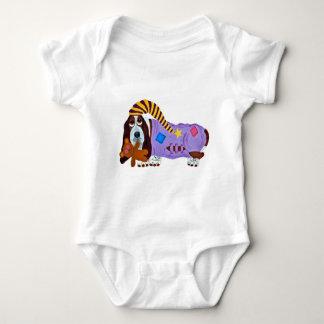 Basset Bedtime Baby Bodysuit