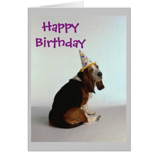 Basset Birthday Dog Card