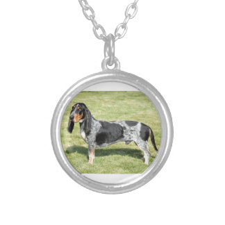 Basset Bleu de Gascogne Dog Silver Plated Necklace
