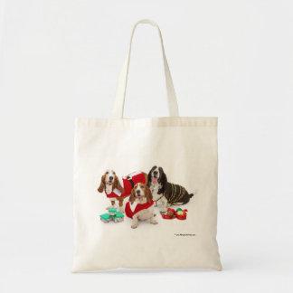 Basset Christmas bag