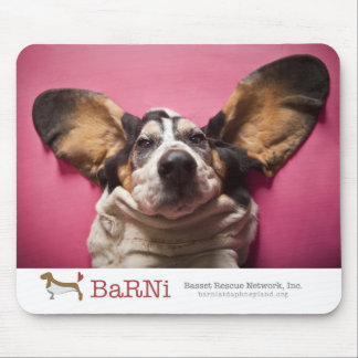 Basset face Mousepad