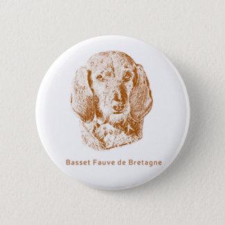 Basset Fauve de Bretagne 2 Inch Round Button