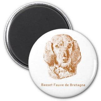 Basset Fauve de Bretagne 2 Inch Round Magnet
