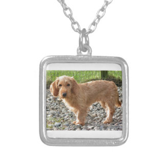 Basset Fauve de Bretagne Dog Silver Plated Necklace