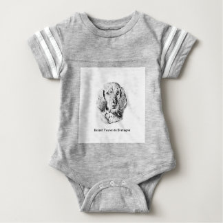 Basset Fauve de Bretagne Drawing Baby Bodysuit